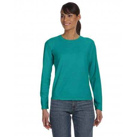 C3014 Comfort Colors C3014 Ladies' Midweight RS Long-Sleeve T-Shirt SEAFOAM