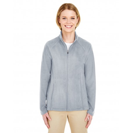 8181 UltraClub 8181 Ladies' Cool & Dry Full-Zip Microfleece SILVER