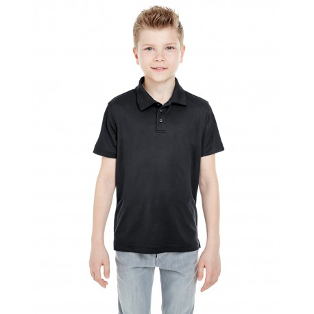 8210Y UltraClub 8210Y Youth Cool & Dry Mesh Pique Polo BLACK