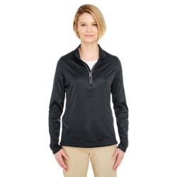 UltraClub 8230L Ladies' Cool & Dry Sport Quarter-Zip Pullover