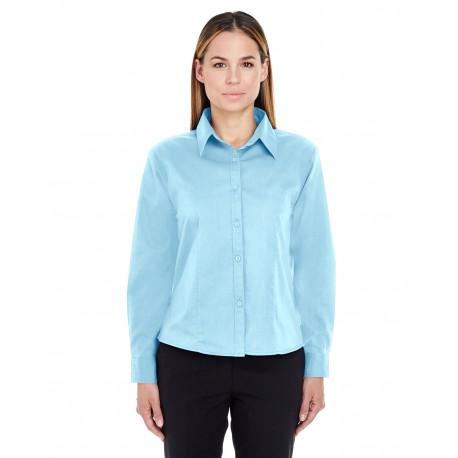 8976 UltraClub 8976 Ladies' Whisper Twill SKY BLUE