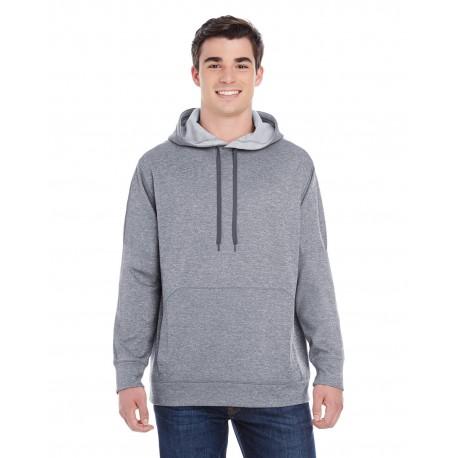 S220 Champion S220 Adult 5.4 oz. Performance Fleece Pullover Hood SLATE GRAY HTHR
