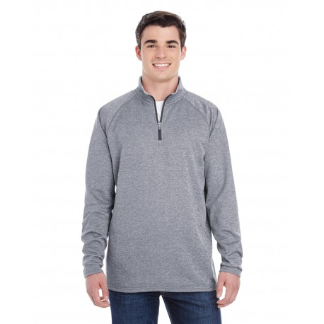 S230 Champion S230 Adult 5.4 oz. Performance Fleece Quarter-Zip Jacket SLATE GRAY HTHR
