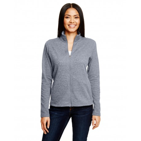 S260 Champion S260 Ladies' 5.4 oz. Performance Fleece Full-Zip Jacket SLATE GRAY HTHR