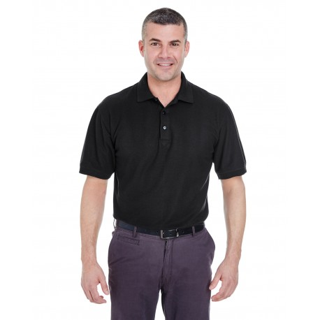 8540T UltraClub 8540T Men's Tall Whisper Pique Polo BLACK