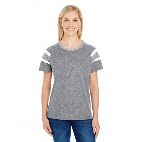 3011 Augusta Sportswear 3011 Ladies' Fanatic Short-Sleeve T-Shirt SLT/ATH HTH/WH
