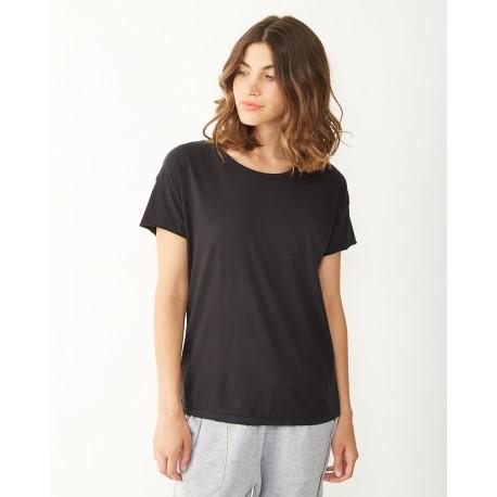 04861C1 Alternative 04861C1 Ladies' Rocker Garment-Dyed Distressed T-Shirt SMOKE