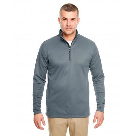 8440 UltraClub 8440 Adult Cool & Dry Sport Quarter-Zip Pullover Fleece SMOKE