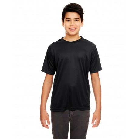 8620Y UltraClub 8620Y Youth Cool & Dry Basic Performance T-Shirt BLACK