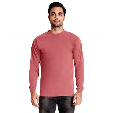 7401 Next Level 7401 Adult Inspired Dye Long-Sleeve Crew SMOKED PAPRIKA