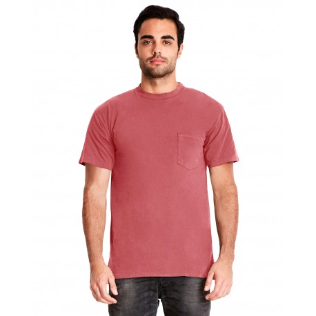 7415 Next Level 7415 Adult Inspired Dye Crew with Pocket SMOKED PAPRIKA