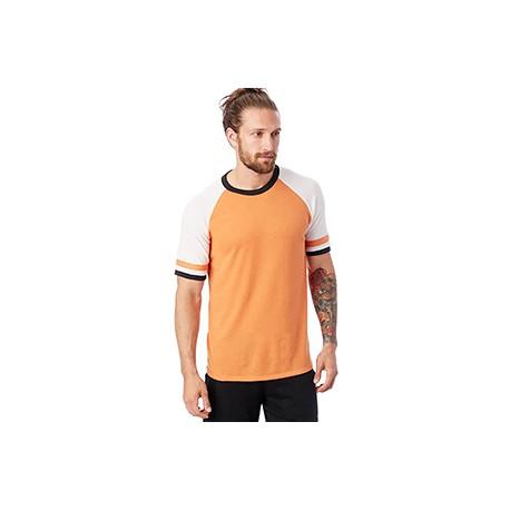 5093BP Alternative 5093BP Men's Slapshot Vintage Jersey T-Shirt SO ORNG/WHT/BLK