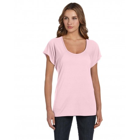 B8801 Bella + Canvas B8801 Ladies' Flowy Raglan T-Shirt SOFT PINK