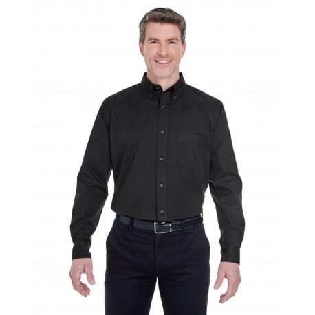 8975T UltraClub 8975T Men's Tall Whisper Twill BLACK
