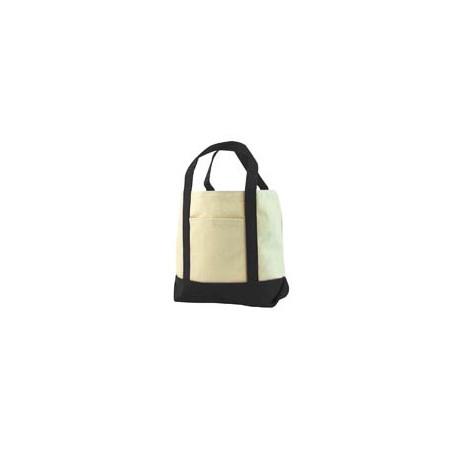8867 Liberty Bags 8867 Seaside Cotton Canvas Tote BLACK