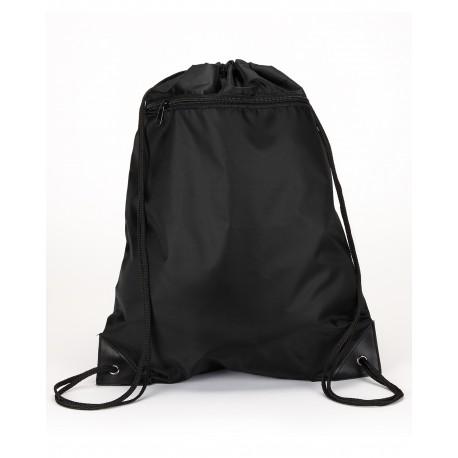 8888 Liberty Bags 8888 Zipper Drawstring Backpack BLACK