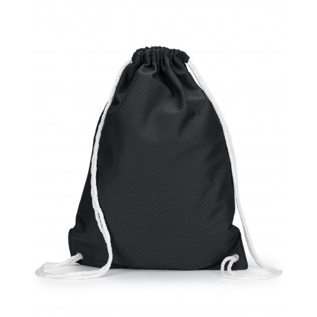 8895 Liberty Bags 8895 Jersey Mesh Drawstring Backpack BLACK
