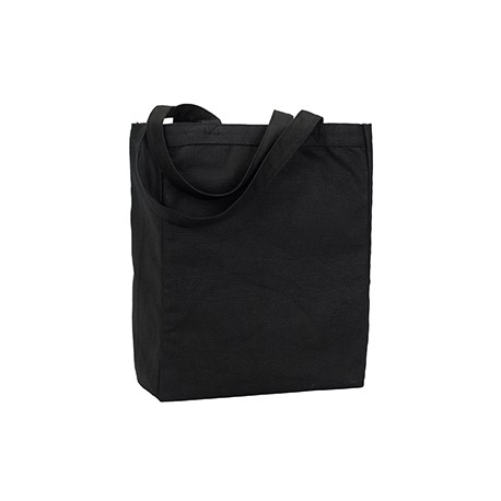 9861 Liberty Bags 9861 Allison Recycled Cotton Canvas Tote BLACK