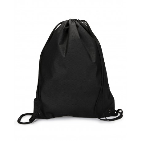 LBA136 Liberty Bags LBA136 Non-Woven Drawstring BLACK