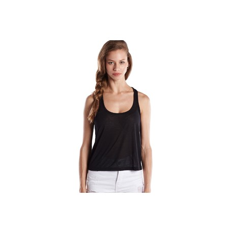 US510 US Blanks US510 Ladies' Sheer Cropped Racer Tank BLACK