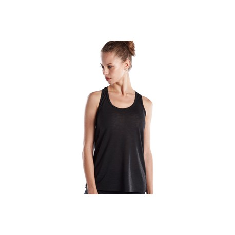US525S US Blanks US525S Ladies' Solid Slub Racer Tank BLACK
