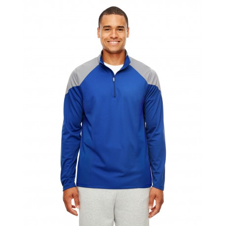 TT27 Team 365 TT27 Men's Command Colorblock Snag Protection Quarter-Zip SP ROYAL/SP GRP