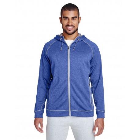 TT38 Team 365 TT38 Men's Excel Melange Performance Fleece Jacket SP RY HT/SP SIL