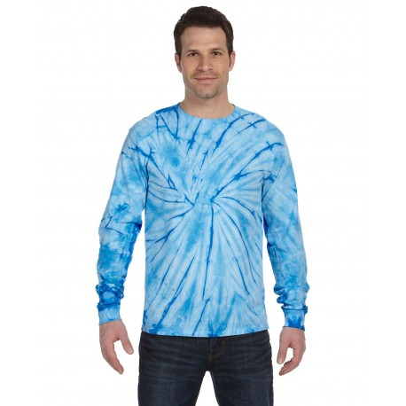 CD2000 Tie-Dye CD2000 Adult 5.4 oz., 100% Cotton Long-Sleeve Tie-Dyed T-Shirt SPIDER BABY BLUE
