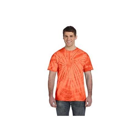 CD101 Tie-Dye CD101 Adult 5.4 oz., 100% Cotton Tie-Dyed T-Shirt - Spider SPIDER ORANGE