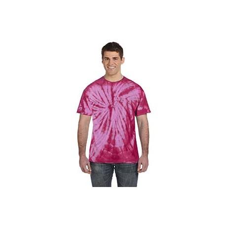 CD101 Tie-Dye CD101 Adult 5.4 oz., 100% Cotton Tie-Dyed T-Shirt - Spider SPIDER PINK