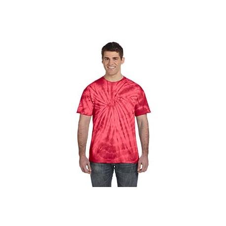 CD101 Tie-Dye CD101 Adult 5.4 oz., 100% Cotton Tie-Dyed T-Shirt - Spider SPIDER RED