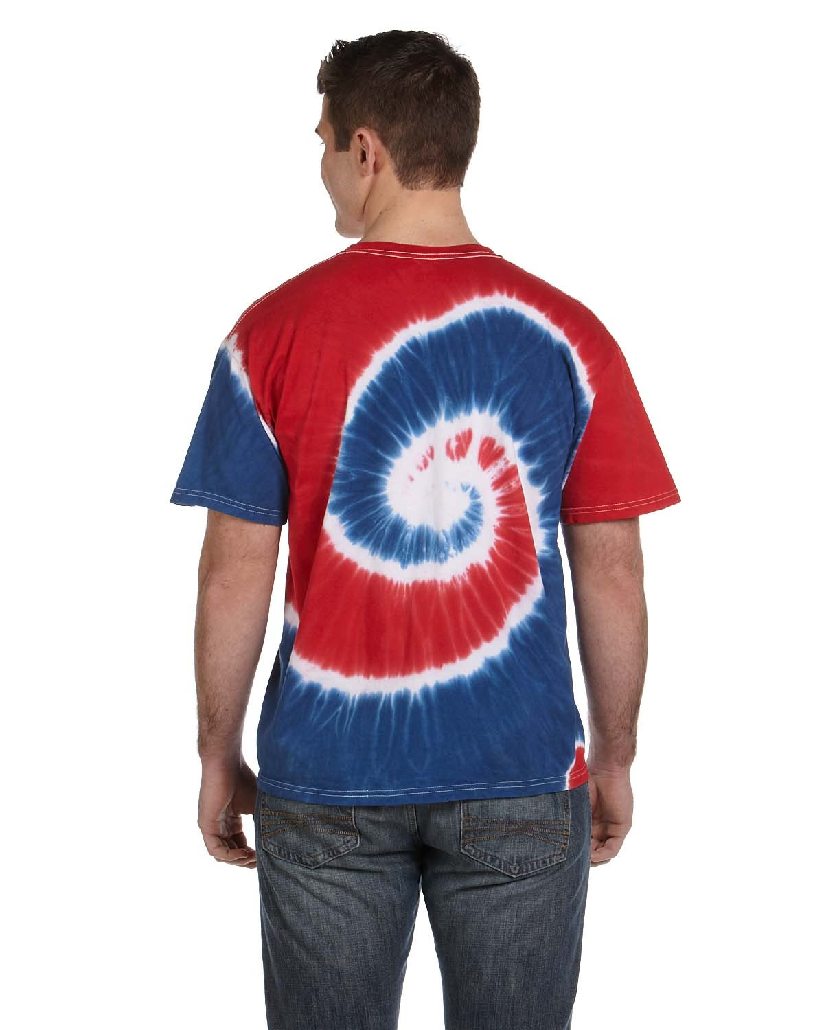 CD100 Tie-Dye SPIRAL ROY/RED