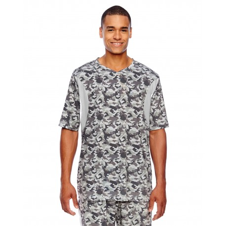 TT12 Team 365 TT12 Men's Short-Sleeve Athletic V-Neck Tournament Sublimated Camo Jersey SPORT CAMO