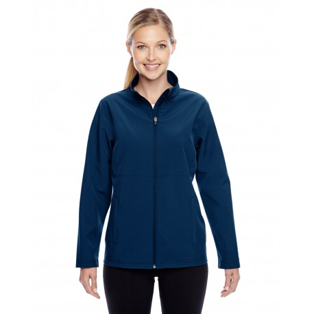 TT80W Team 365 TT80W Ladies' Leader Soft Shell Jacket SPORT DARK NAVY