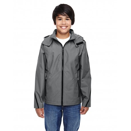 TT72Y Team 365 TT72Y Youth Conquest Jacket with Fleece Lining SPORT GRAPHITE