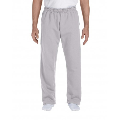 G123 Gildan G123 Adult DryBlend Adult 9 oz., 50/50 Open-Bottom Sweatpants SPORT GREY