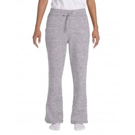 G184FL Gildan G184FL Ladies' Heavy Blend Ladies 8 oz., 50/50 Open-Bottom Sweatpants SPORT GREY