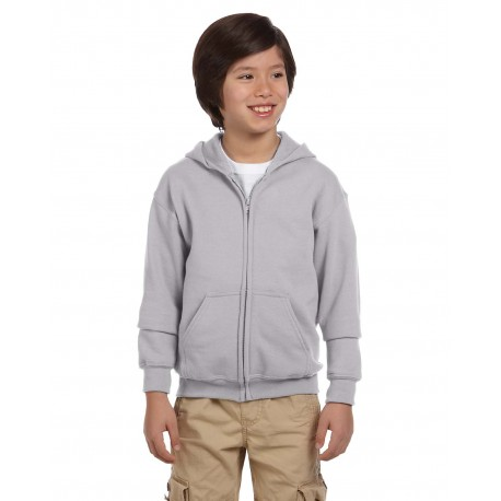 G186B Gildan G186B Youth Heavy Blend 8 oz., 50/50 Full-Zip Hood SPORT GREY