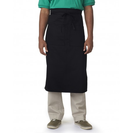 8207 Liberty Bags 8207 Cafe Bistro Apron BLACK