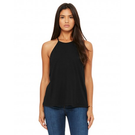 8809 Bella + Canvas 8809 Ladies' Flowy High Neck Tank BLACK