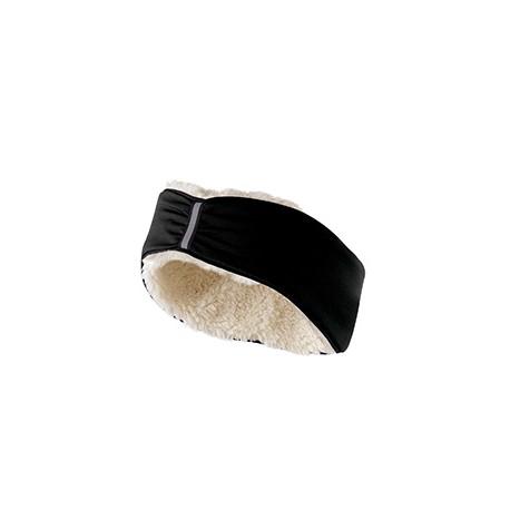 223821 Holloway 223821 Ladies' 4-way Stretch Polyester Ridge Headband BLACK