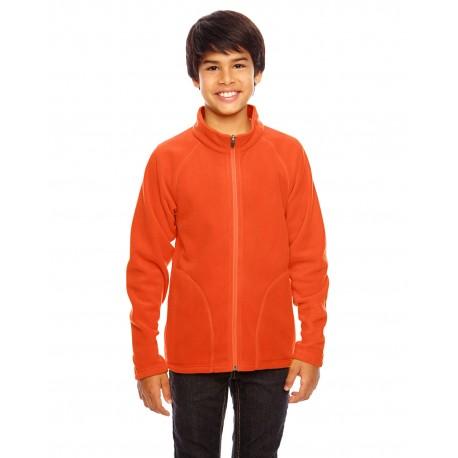TT90Y Team 365 TT90Y Youth Campus Microfleece Jacket SPORT ORANGE