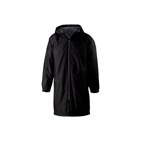 229162 Holloway 229162 Adult Polyester Full Zip Conquest Jacket BLACK