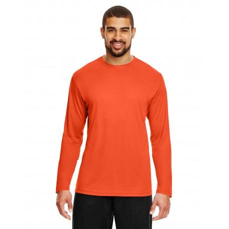 TT11L Team 365 TT11L Men's Zone Performance Long-Sleeve T-Shirt SPORT ORANGE