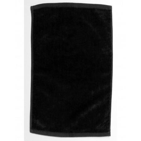 1118DE Pro Towels 1118DE Velour Fingertip Sport Towel BLACK