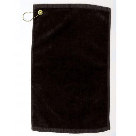 1118DEC Pro Towels 1118DEC Velour Fingertip Golf Towel BLACK