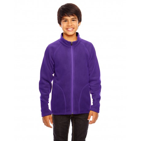 TT90Y Team 365 TT90Y Youth Campus Microfleece Jacket SPORT PURPLE