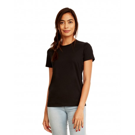 3900A Next Level 3900A Ladies' Made in USA Boyfriend T-Shirt BLACK