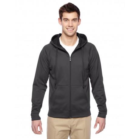 PF93MR Jerzees PF93MR Adult 6 oz. DRI-POWER SPORT Full-Zip Hooded Sweatshirt STEALTH