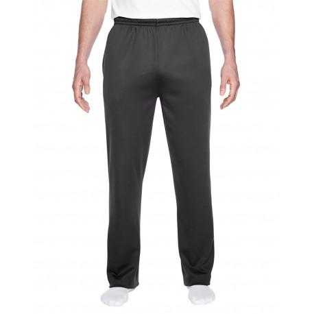 PF974MP Jerzees PF974MP Adult 6 oz. DRI-POWER SPORT Pocketed Open-Bottom Sweatpant STEALTH